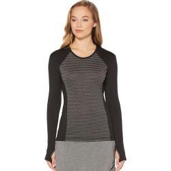 Women's Grand Slam Golf Performance Striped Long Sleeve Top, Size: XL, Oxford