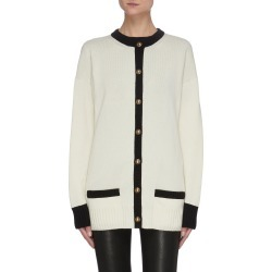 Contrast trim elongated cardigan found on MODAPINS from Lane Crawford-US for USD $2320.00