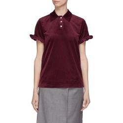Ruffle sleeve velvet polo shirt found on MODAPINS from Lane Crawford-US for USD $390.00