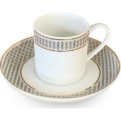 Vintage Modern coffee cup and saucer set