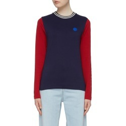 Slogan print colourblock long sleeve T-shirt found on MODAPINS from Lane Crawford-US for USD $220.00