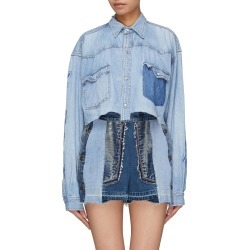 Logo print washed cropped denim shirt found on MODAPINS from Lane Crawford-US for USD $480.00
