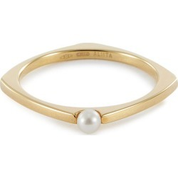 Pearl 9k yellow gold ring