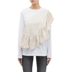'Flamenco' ruffle stripe panel long sleeve T-shirt found on MODAPINS from Lane Crawford-US for USD $350.00