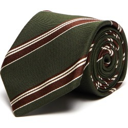 Stripe silk wool blend tie found on MODAPINS from Lane Crawford-US for USD $155.00