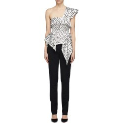 Asymmetric graphic print satin one-shoulder top found on MODAPINS from Lane Crawford-US for USD $335.00