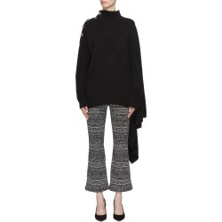 Button shoulder asymmetric drape cashmere turtleneck sweater found on MODAPINS from Lane Crawford-US for USD $1010.00