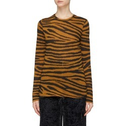 Tiger print long sleeve T-shirt found on MODAPINS from Lane Crawford-US for USD $325.00