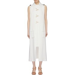 Shoulder sash drape buckled front gilet dress found on MODAPINS from Lane Crawford-US for USD $1390.00
