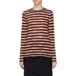 Chevron stripe long sleeve T-shirt found on MODAPINS from Lane Crawford-US for USD $325.00