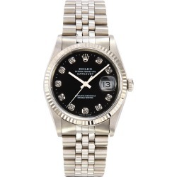 Rolex Datejust diamond stainless steel watch found on MODAPINS from Lane Crawford-US for USD $8300.00