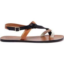 'Arona' colourblock leather sandals