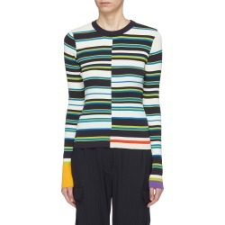 Variegated stripe rib knit sweater found on MODAPINS from Lane Crawford-US for USD $410.00