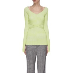 'Scollo' wrapped V-neck sweater found on MODAPINS from Lane Crawford-US for USD $427.00