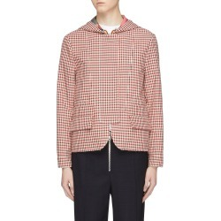 Hooded check plaid jacket found on MODAPINS from Lane Crawford-US for USD $1240.00