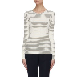 Variegated rib stripe long sleeve T-shirt found on MODAPINS from Lane Crawford-US for USD $125.00