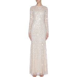 'Tempest' sequin embroidered gown