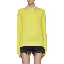 Cutout collar cotton-cashmere sweatshirt found on MODAPINS from Lane Crawford-US for USD $610.00