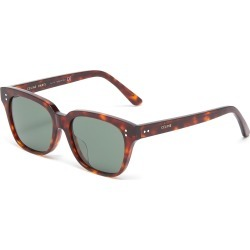 Tortoiseshell acetate square sunglasses