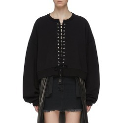 Lace-up sweatshirt found on MODAPINS from Lane Crawford-US for USD $590.00