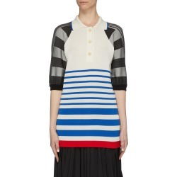 Stripe patchwork polo shirt found on MODAPINS from Lane Crawford-US for USD $880.00