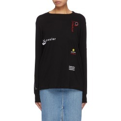PSWL graphic embroidered long sleeve T-shirt found on MODAPINS from Lane Crawford-US for USD $195.00