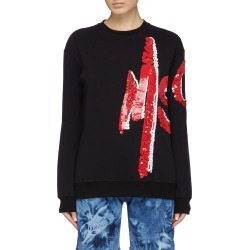Sequin logo sweatshirt found on MODAPINS from Lane Crawford-US for USD $535.00