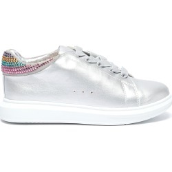 'Popcorn' strass collar metallic leather kids sneakers found on MODAPINS from Lane Crawford-US for USD $105.00