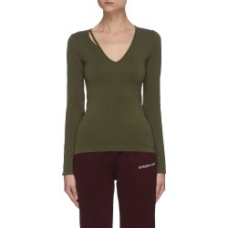 Side cutout V neck long sleeve T-shirt found on MODAPINS from Lane Crawford-US for USD $190.00