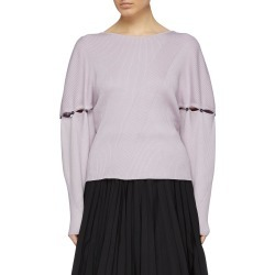 Detachable button sleeve rib knit V-back sweater found on MODAPINS from Lane Crawford-US for USD $258.00
