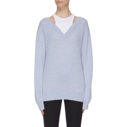 Contrast panel top V neck sweater found on MODAPINS from Lane Crawford-US for USD $210.00