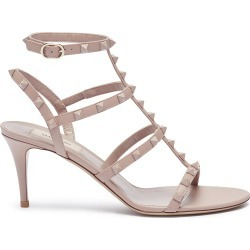 'Rockstud' caged leather sandals