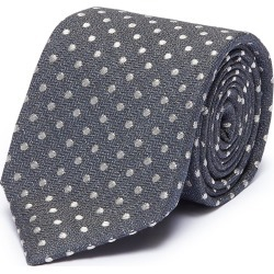 Polka dot embroidered cotton-silk tie found on MODAPINS from Lane Crawford-US for USD $235.00