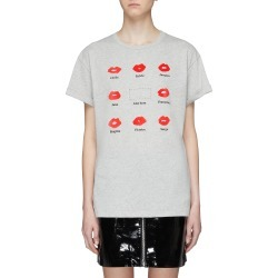 'Kiss Grid' slogan graphic print oversized T-shirt found on MODAPINS from Lane Crawford-US for USD $90.00
