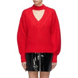 Cutout V-neck cotton-wool mix knit sweater found on MODAPINS from Lane Crawford-US for USD $170.00