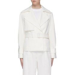 Belted cropped linen-cotton boxy jacket found on MODAPINS from Lane Crawford-US for USD $495.00