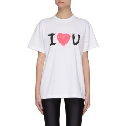 I Love You Print Cotton T-shirt found on Bargain Bro India from Lane Crawford-US for $670.00