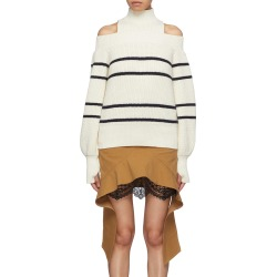 Turtleneck panel stripe cold shoulder sweater found on MODAPINS from Lane Crawford-US for USD $340.00