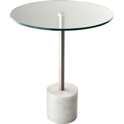Adesso Blythe Tables in Steel And White Marble HX5282-02