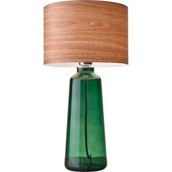 Adesso Jade 1 Light Table Lamps in Green Painted Glass 6029-05