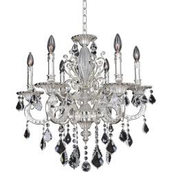 Allegri Cassella 6 Light Chandeliers in Two-Tone Silver 024751-017-FR001