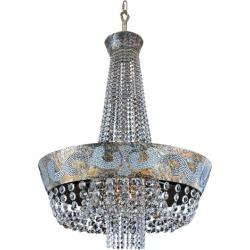 Allegri Romanov 6 Light Chandeliers in Antique Silver Leaf 024053-006-FR001