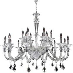 Allegri Chauvet 18 Light Chandeliers in Polished Chrome 026953-010-FR001