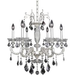 Allegri Cassella 6 Light Chandeliers in Two-Tone Silver 024755-017-FR001
