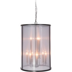 Craftmade Danbury 9 Light Foyer Pendants in Matte Black 36739-MBK