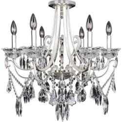Allegri Brunetti 6 Light Flush Mounts in Two-Tone Silver 025042-017-FR001