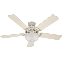Hunter The Sonora 2 Light Indoor Ceiling Fans in French Vanilla 53173