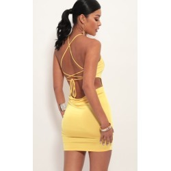 Day Party Cowl Back Dress in Clementine