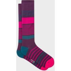 Men's Damson Block Stripe 'A Sock To Travel In' found on Bargain Bro UK from Paul Smith Ltd
