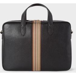Men's Black Signature Stripe Slim Leather Business Folio found on Bargain Bro UK from Paul Smith Ltd
